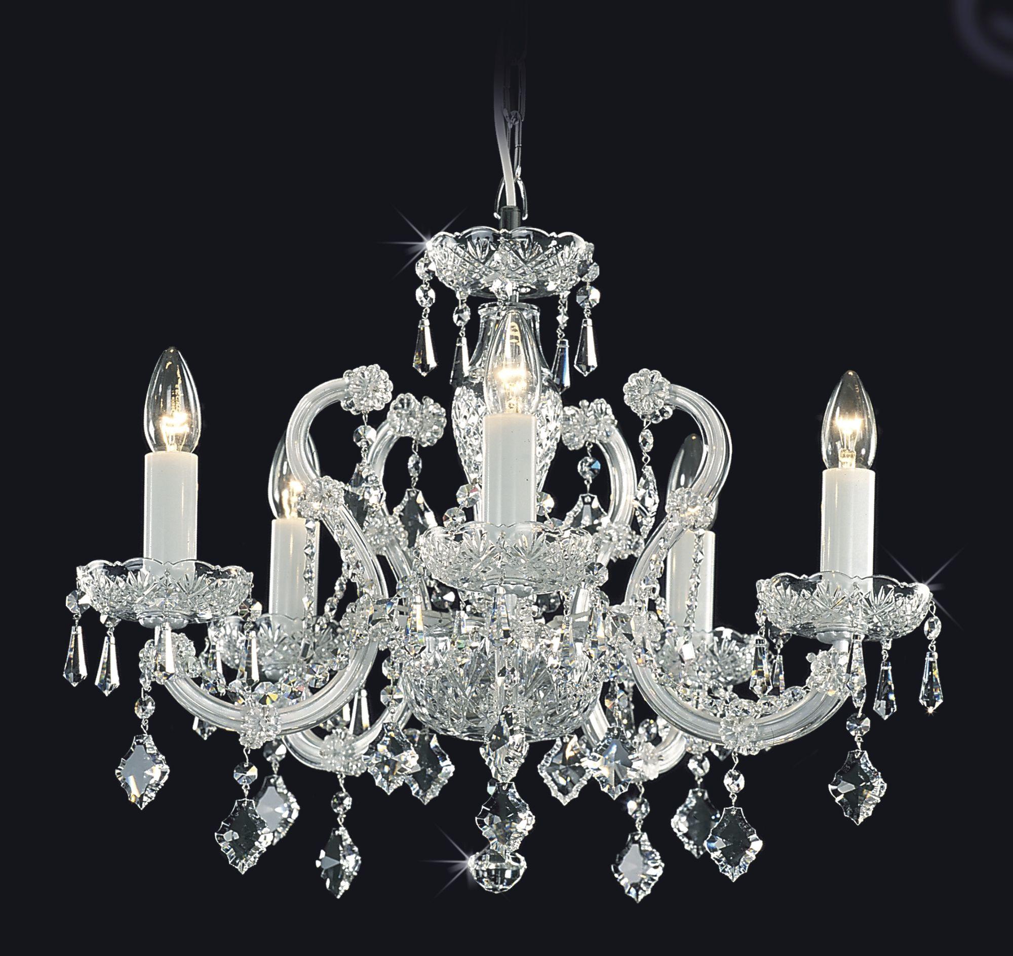 Kronleuchter Kristall kristall kronleuchter 5 armig aus bohemian cut