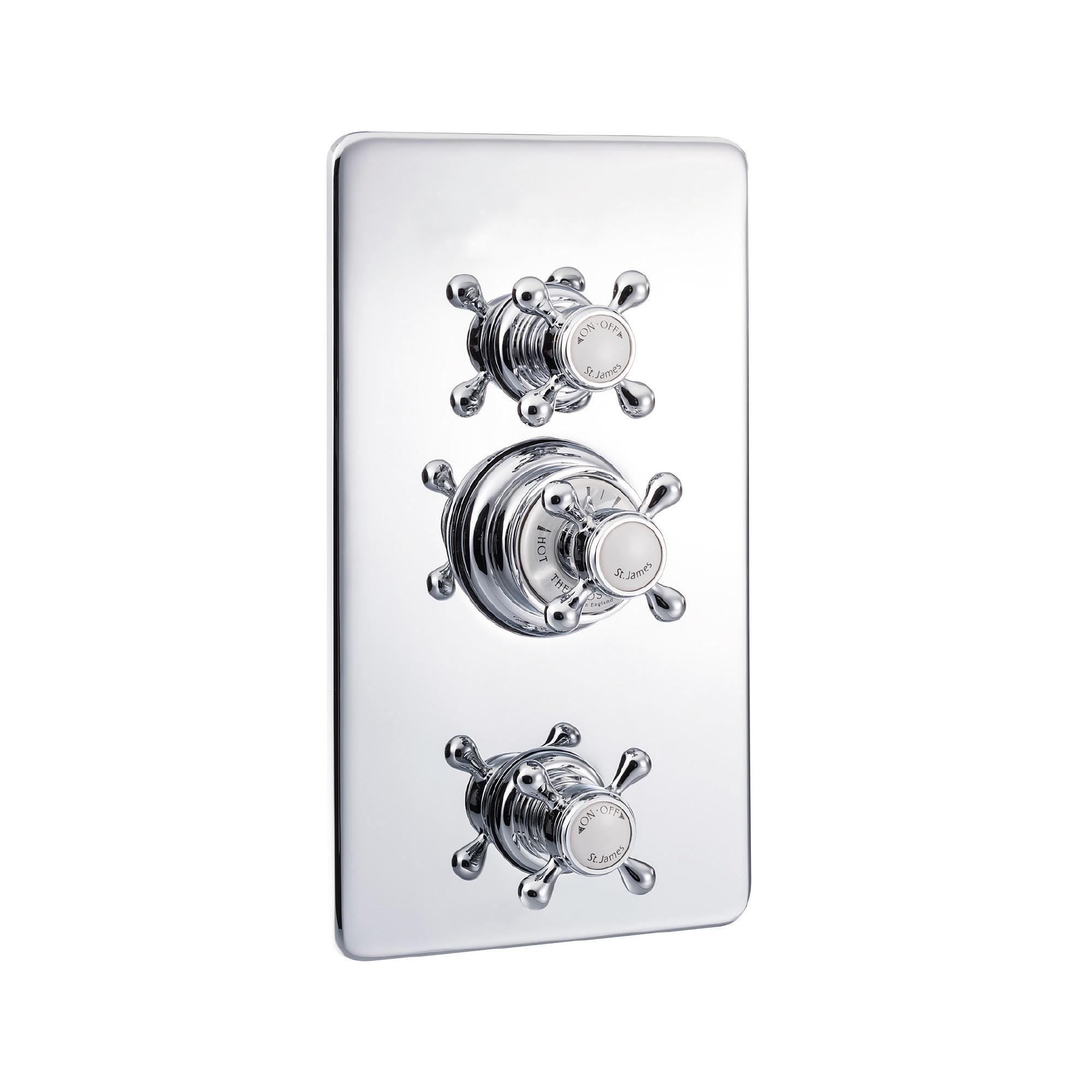 Duscharmatur Mit Thermostat : Thermostat-Duscharmatur mit Abdeckplatte ? TRADITIONAL BATHROOMS