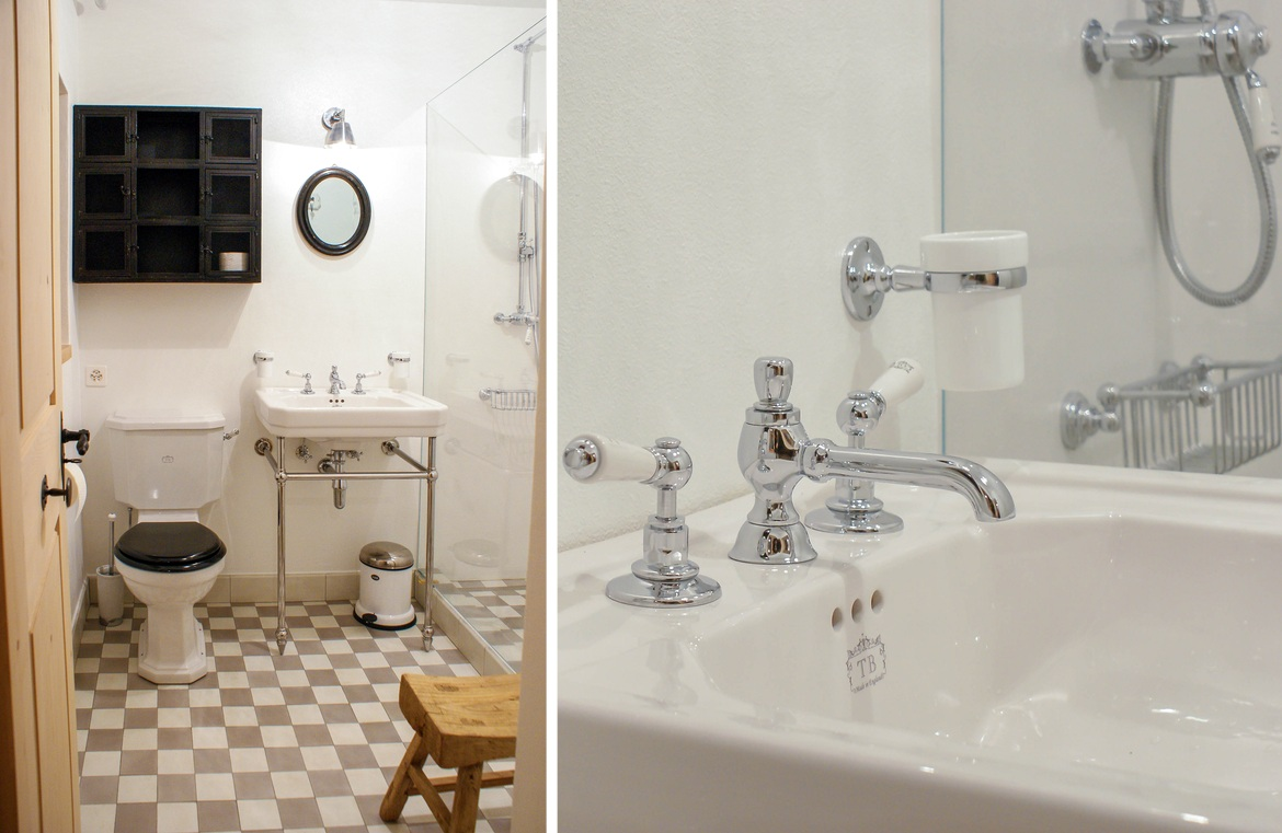 Haus im savognin traditional bathrooms for Traditional bathrooms 2016