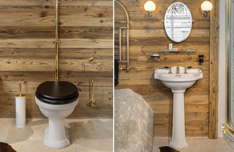 WC und Waschtisch im Chaletstil
