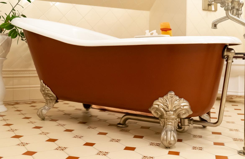 Freistehende Gusseisen Badewanne