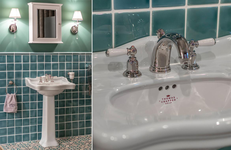 Nostalgischer Bad Waschtisch