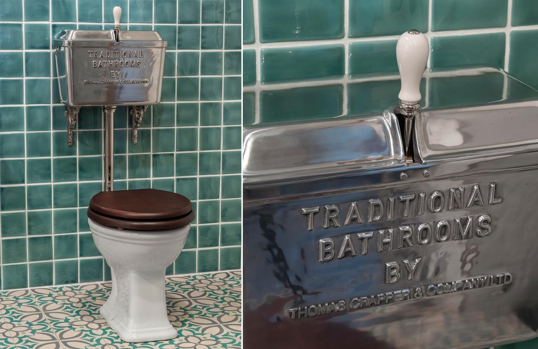 Nostalgisches Badezimmer mit WC