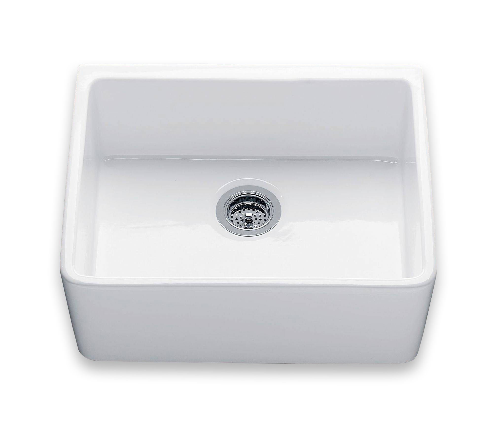 Kuchenspule Single Butler Aus Keramik In Weiss Traditional Bathrooms