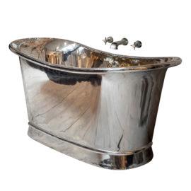 Kupfer Badewanne vernickelt Argentum