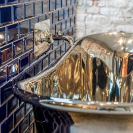 Kupferbadewanne Argentum vernickelt