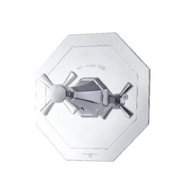 P&R ART DÉCO Thermostat-Duscharmatur mit Kreuzgriff