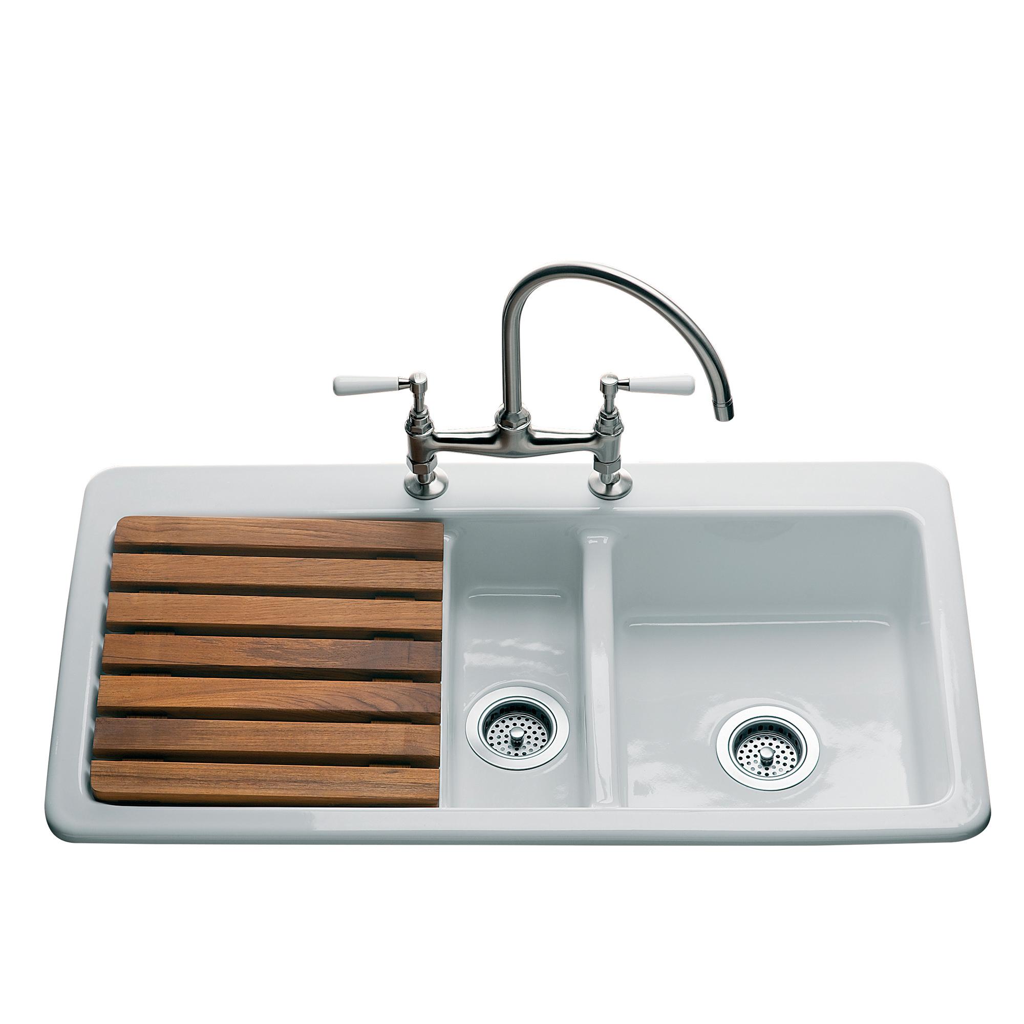 Retro Kuchen Spulbecken Traditional Bathrooms