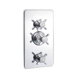 TB770.414 Thermostat-Duscharmatur mit Abdeckplatte
