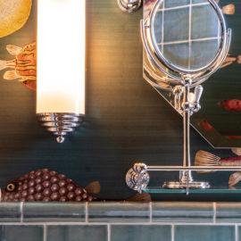 Vintage Badezimmer Wandleuchte Art Déco