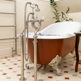 Freistehende Gusseisen Badewanne Hampshire Slipper