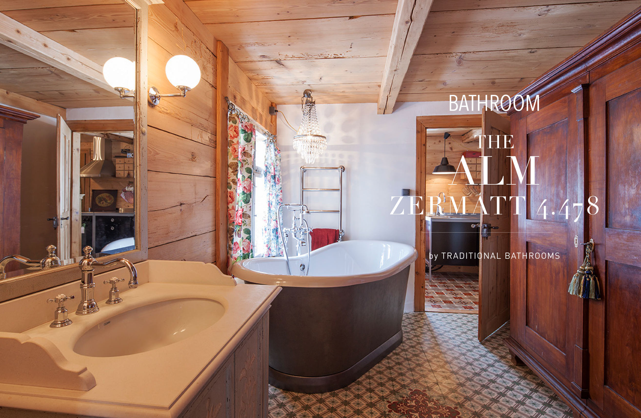 Badezimmer Alpin