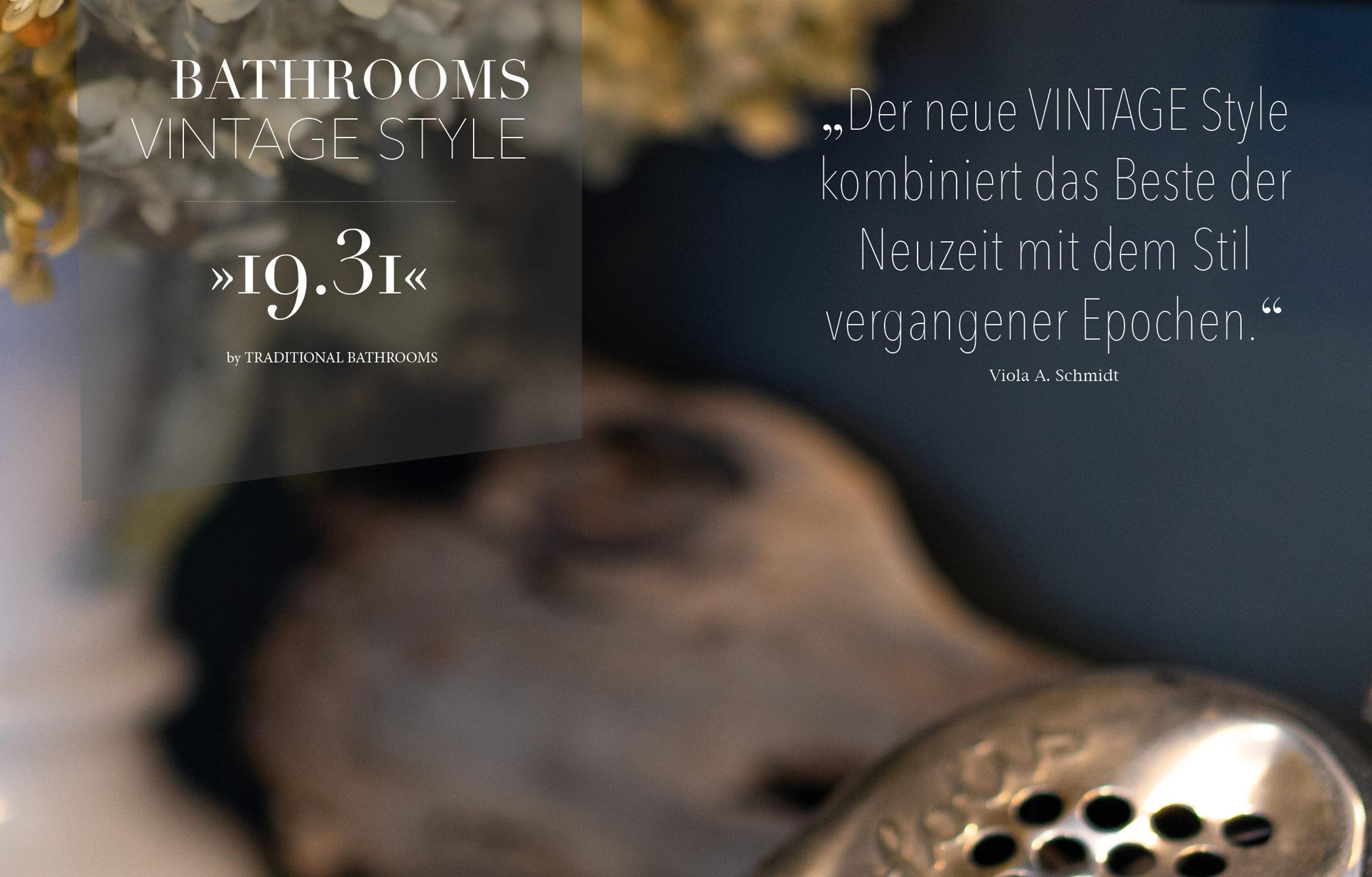 Vintage Style Badezimmer