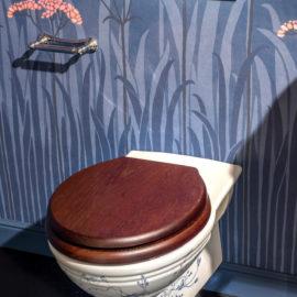 Toilette bemalt Jugendstil TB-SG-WH
