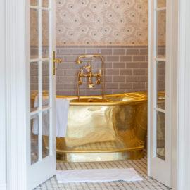 Messing Badewanne Modell Chalcum von Traditional Bathrooms