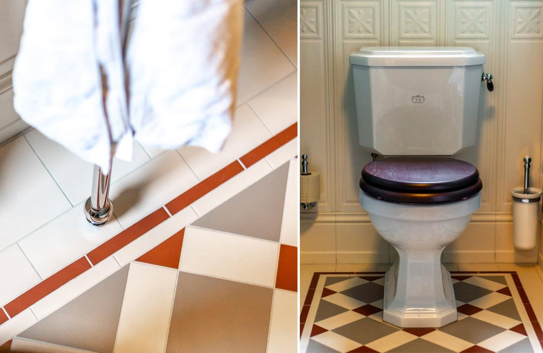 Gäste Toilette im Retro Stil