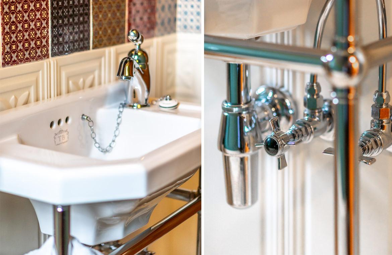 Retro Handwaschbecken für Gäste WC