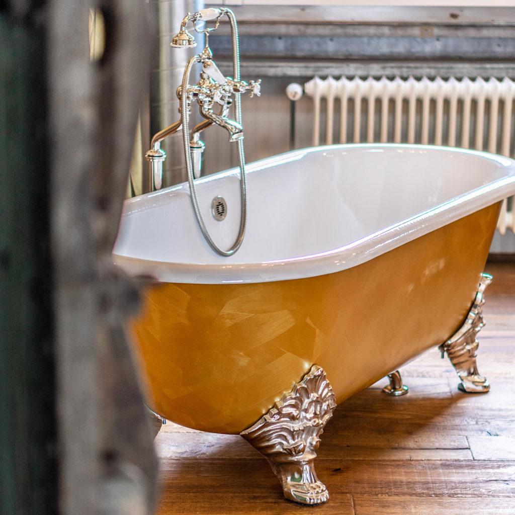 Badezimmer im Loft Stil Vintage Badewanne