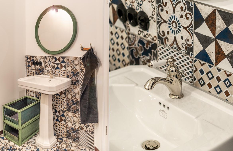 Nostalgisches WC mit passendem Waschtisch