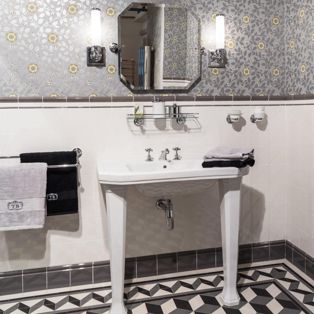 Art Deco Badezimmer Konsolen Waschtisch