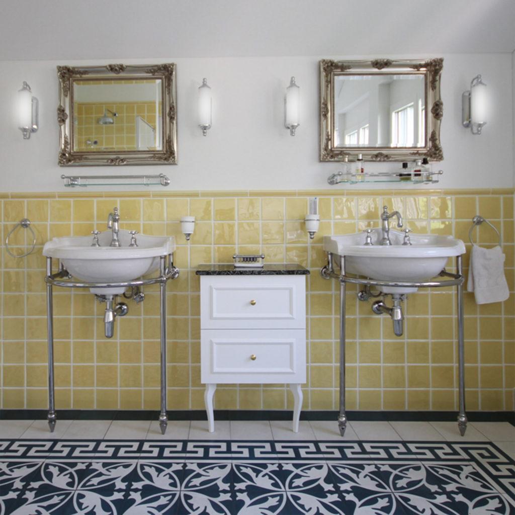Badezimmer im Nostalgie Stil Nostalgiestil Waschtisch