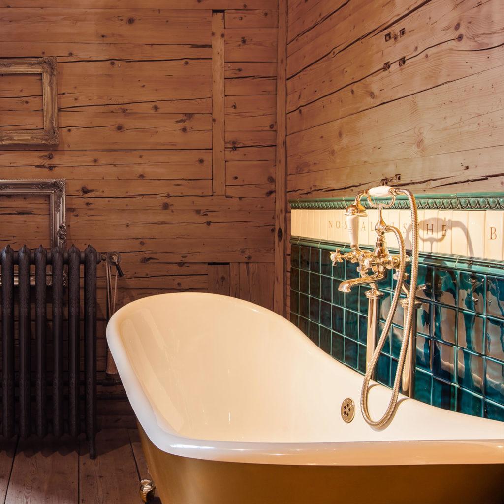 Gusseisen Badewanne Badezimmer nostalgisch