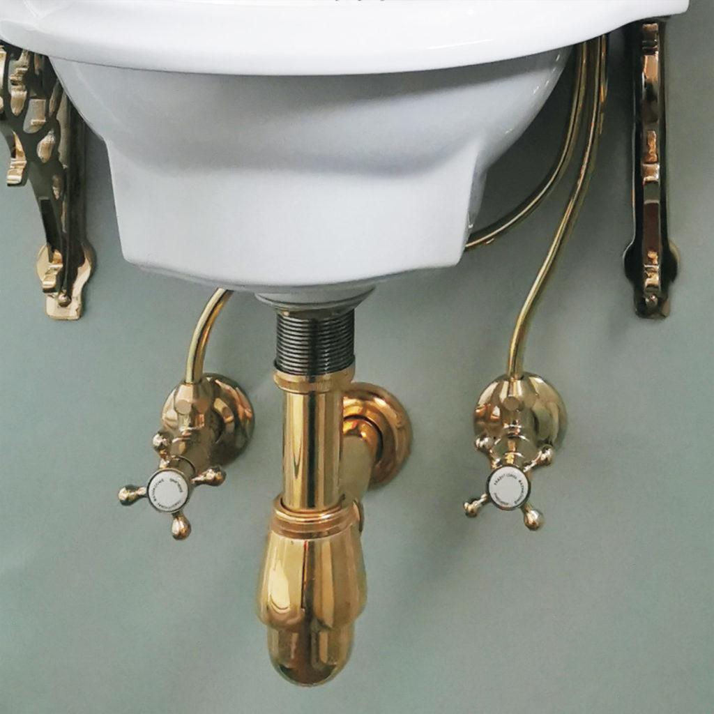 Nostalgische Toilette Eckventil