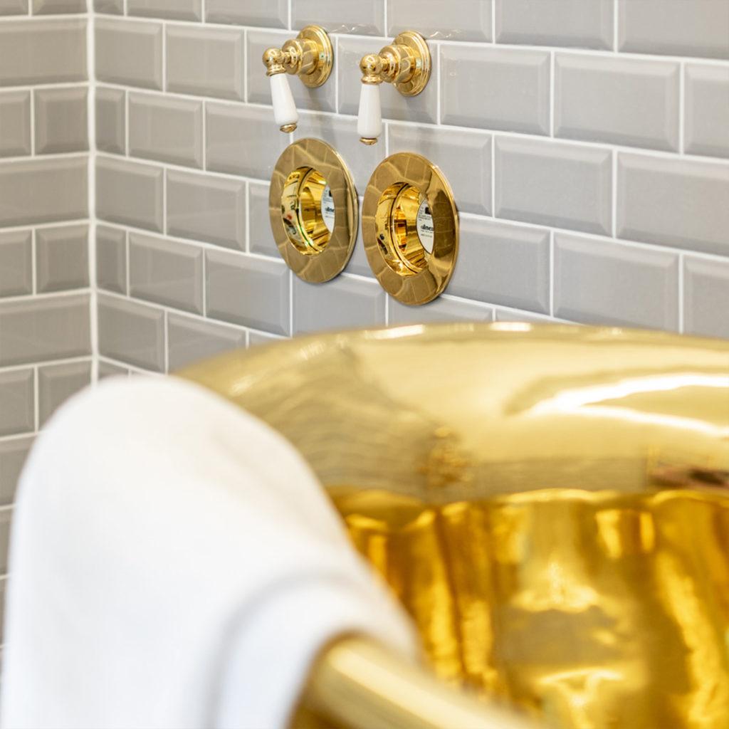 Nostalgie Stil Badezimmer mit persönlicher Note