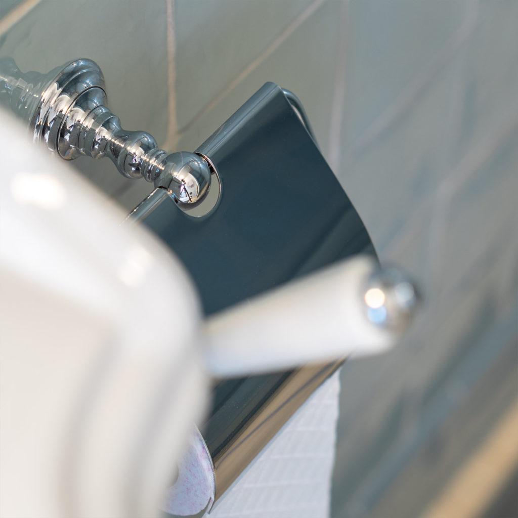 Nostalgie Badezimmer WC Rollenhalter