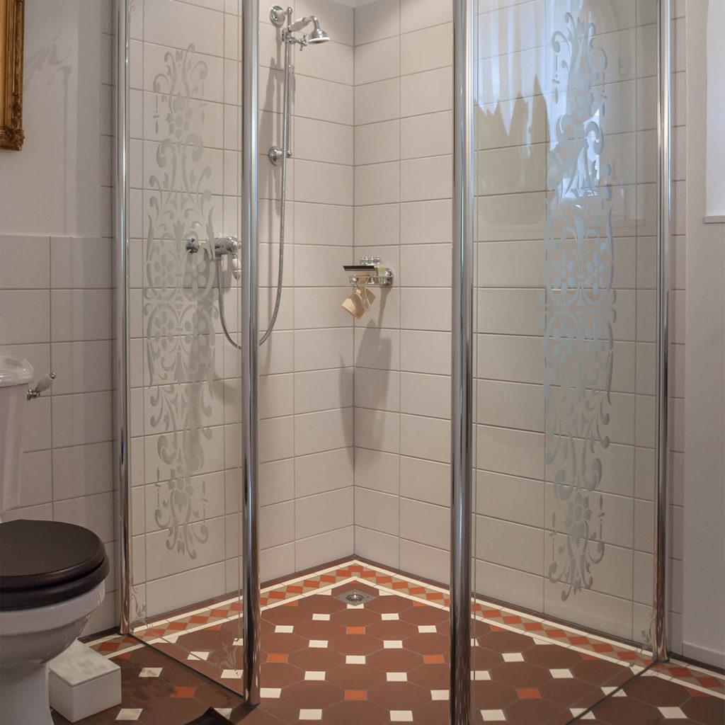 Retro Duschtrennwand