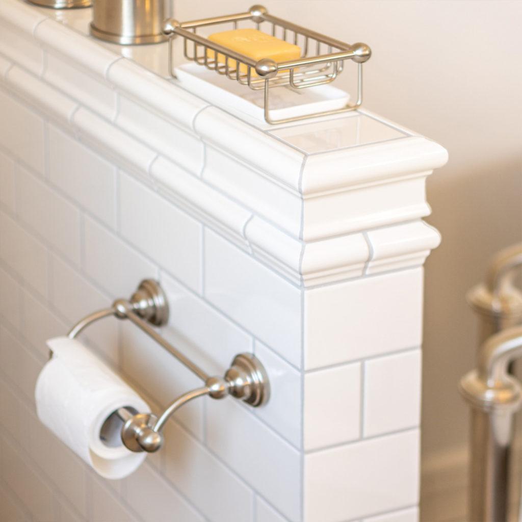 Nostalgisches Bad WC Rollenhalter