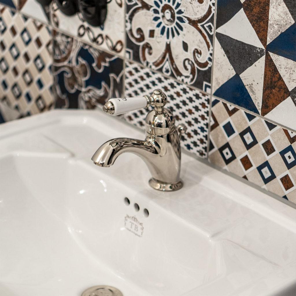 Nostalgisches WC Waschtisch Einhebelmischer
