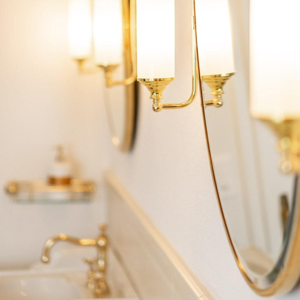 Retro Badezimmer Spiegel